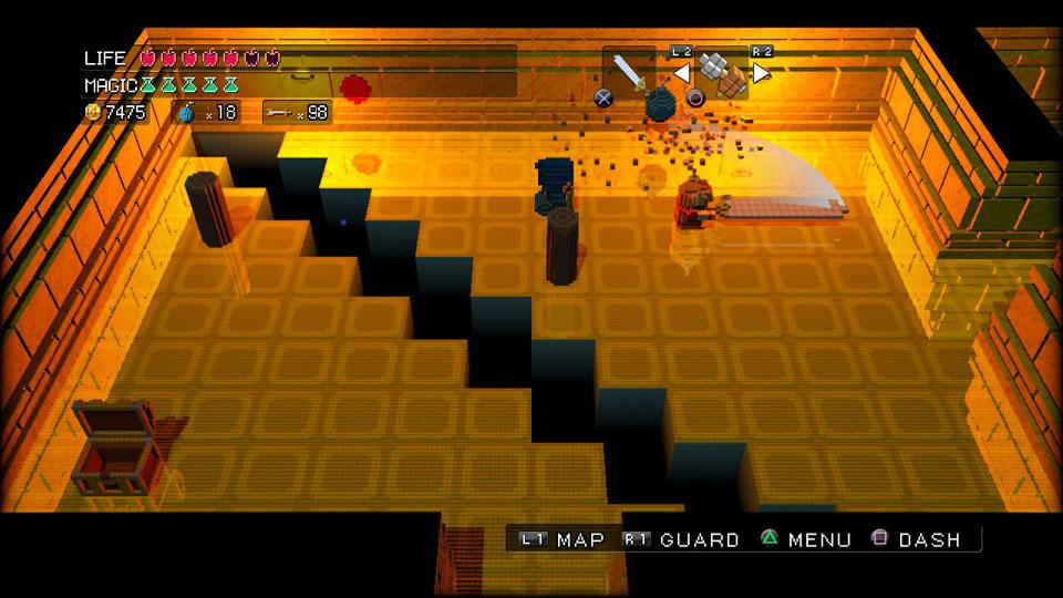 Überall Pixel..auch in hübschen Dungeons
