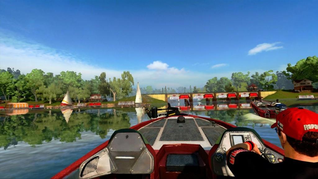 Sieht nett aus: Die Fahrt mit dem Motorboot. Später werden neue Boote freigeschaltet, alle bieten verschiedene Perspektiven.