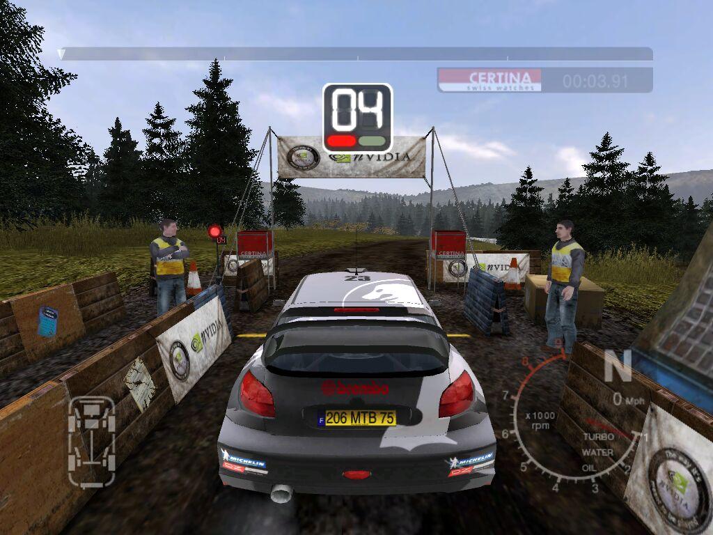 Colin McRae Rally 2005: Offizielle 2005er-Lizenzen und ein paar vorgegebene, aber nicht veränderbare Sponsoren.