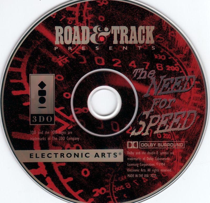 The Need for Speed: Die Original-CD vom 3DO-Spiel. Road&Track bedeutet im Grunde nur, dass EA sich damals Unterstützung von dem gleichnamigen US-Automagazin holte...