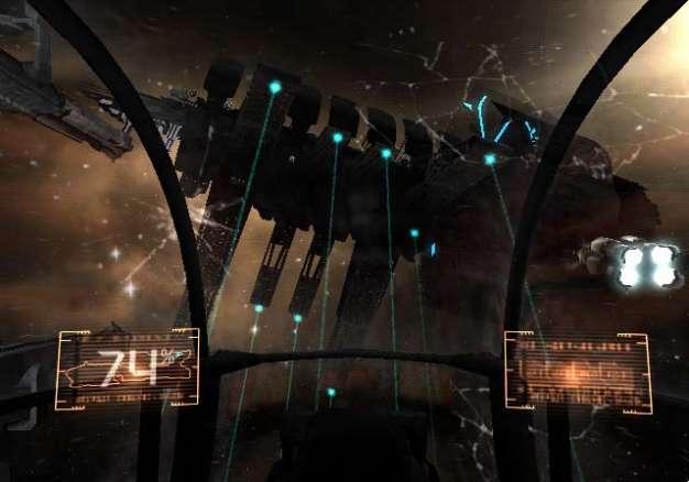 An stimmungsvollen Schauplätzen mangelt es Dead Space Extraction wahrlich nicht. (Screenshot: Wii-Version)
