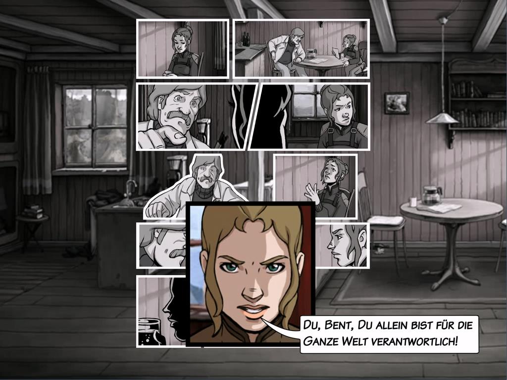 A New Beginning: Die Geschichte wird teils in Form von Comics erzählt. Toll.