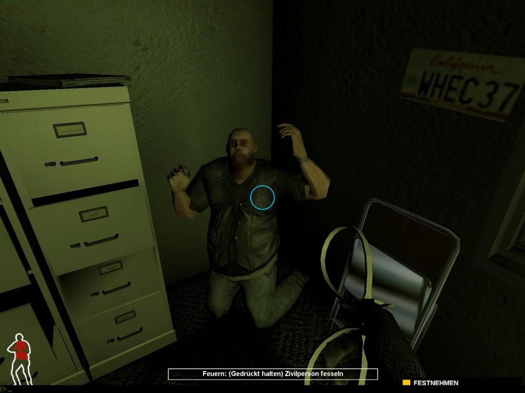 Ein Krimineller kurz vor seiner Festnahme.