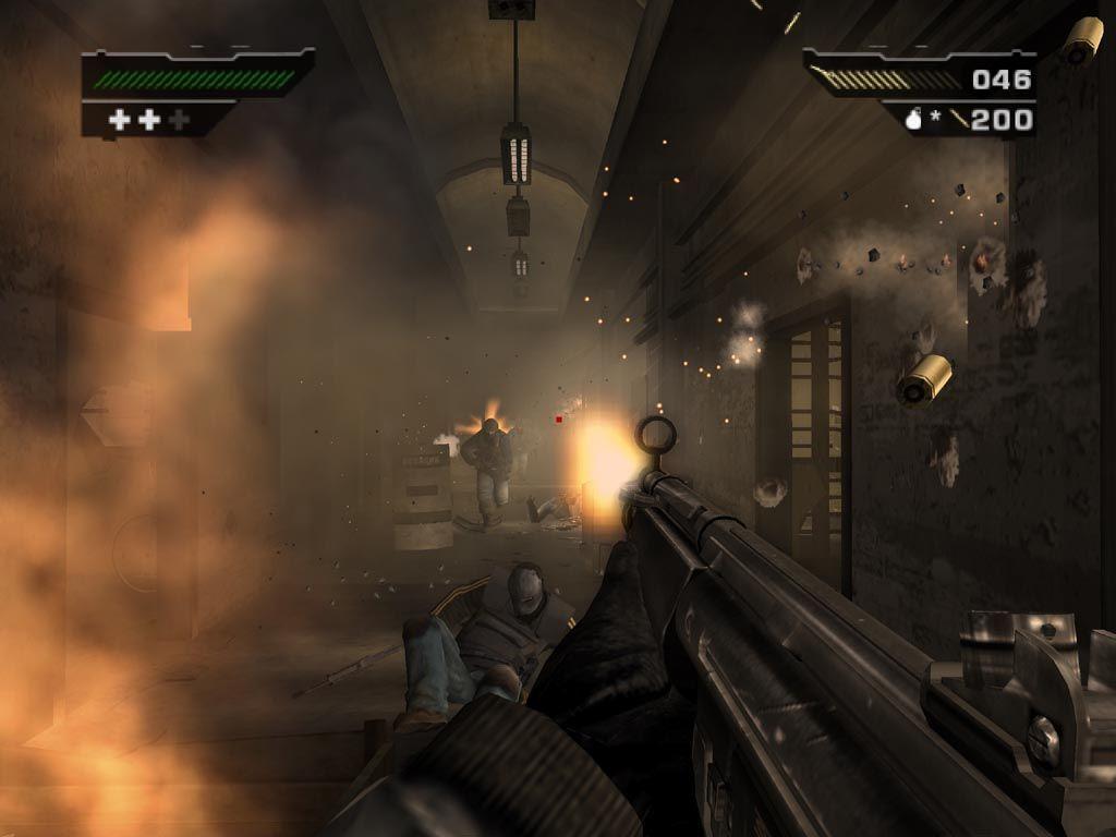 Boah! Die Gegner mit den Horrorfilmmasken erledigt ihr am besten mit einer Schrotflinte. AK47 ist anstrengend!