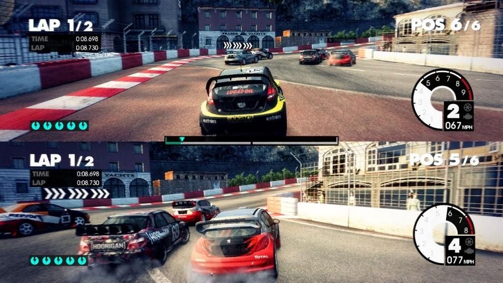 Idealer Spaß für zwischendurch: Splitscreen-Rennen bei Dirt 3.