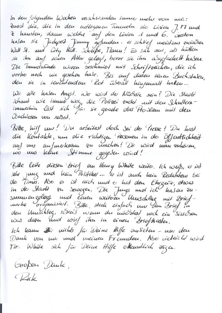 Seite 2 des Briefes