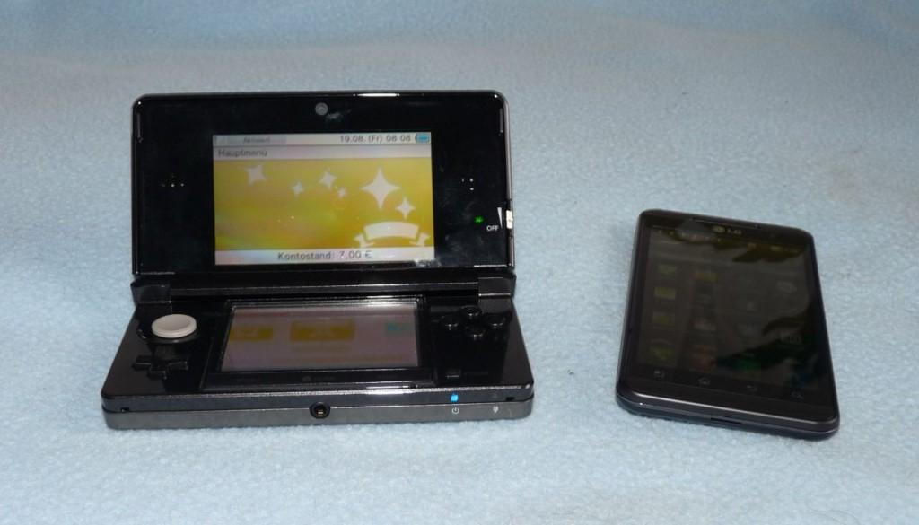 Größenvergleich: Nintendo 3DS vs. LG Optimus 3D