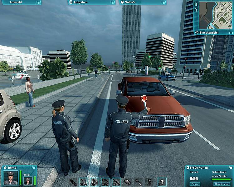 Polizei: Auf der Straße ist die Langeweile los...