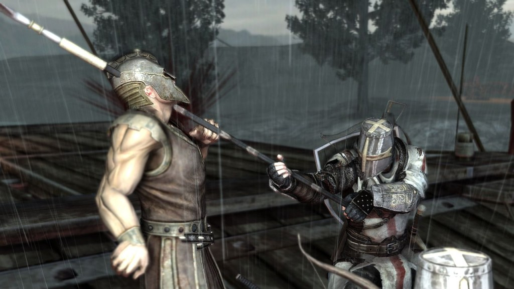 Nicht von Hochglanz-Pressefotos täuschen lassen. So gut sieht The Cursed Crusade nicht aus. Brutal ist das Spiel dennoch. (Foto: DTP)