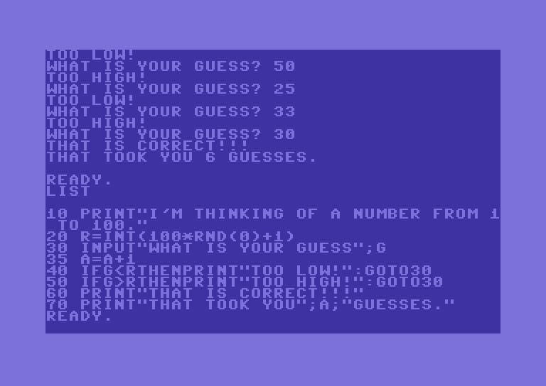 Ein typisches BASIC-Programm