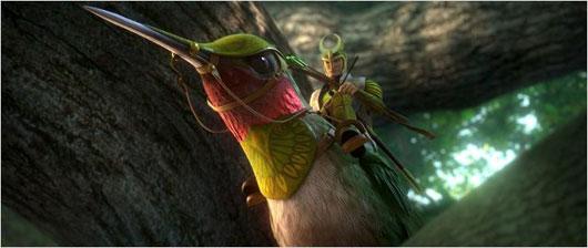 Dieses Flugreittier beeindruckt auch farblich (Bild: 20th Century Fox)