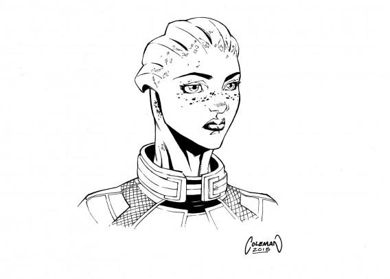 Liara aus Mass Effect von Ruairí Coleman